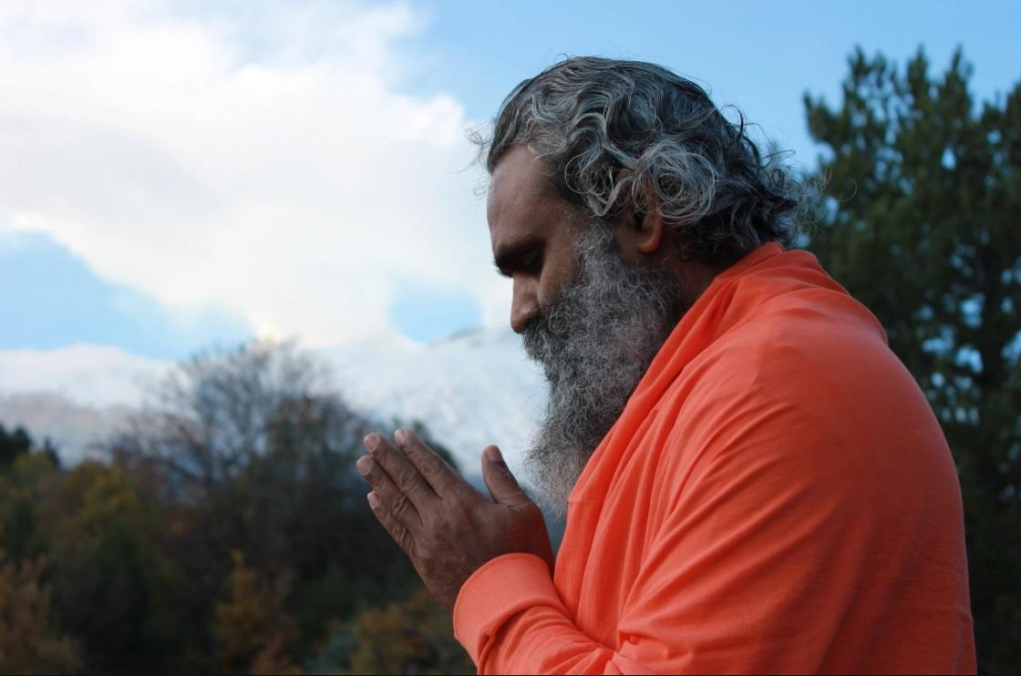 Der heilige Teil des Namaste-Grußes